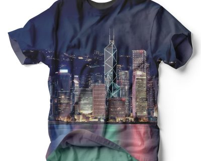 Hong Kong City Lights Sublimation Shirt