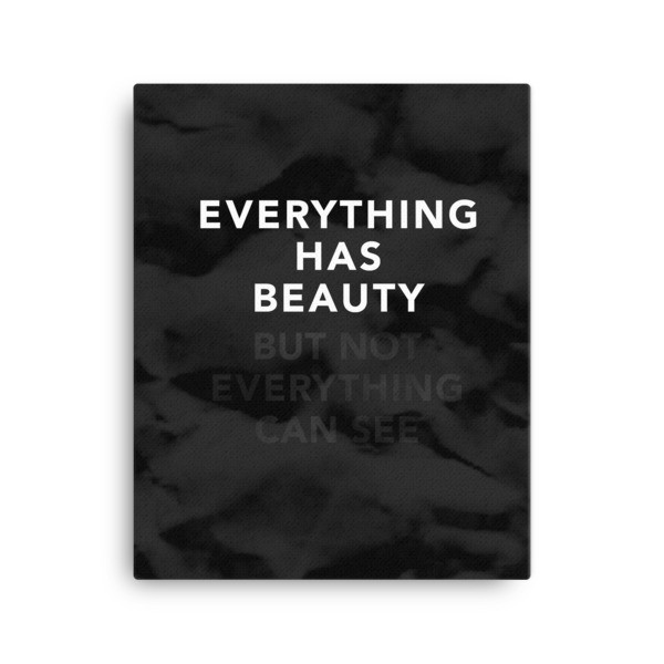 Everthing has Beauty - But Not Everything can see
